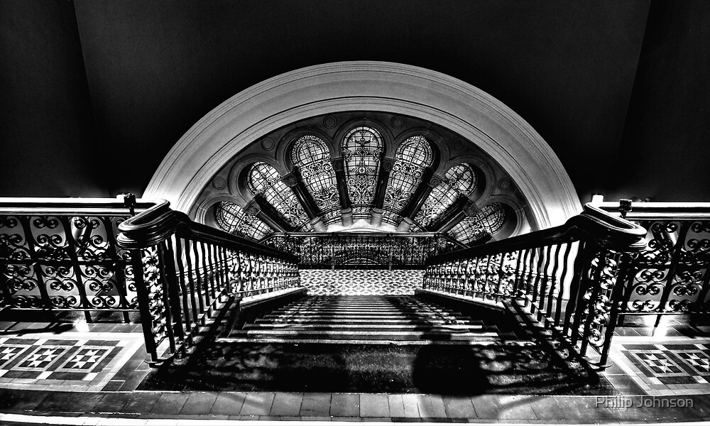 Steps, Shadow & Time - The Grand Staircase - QVB - The HDR Experience by Philip Johnson