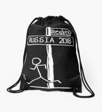 """Funny """"Reality vs Russia 2018"""" Signpost Design; world cup 2018 Drawstring Bag"""