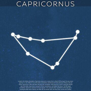 Capricornus Die Konstellationen Minimalist Series 04 von scienceispun