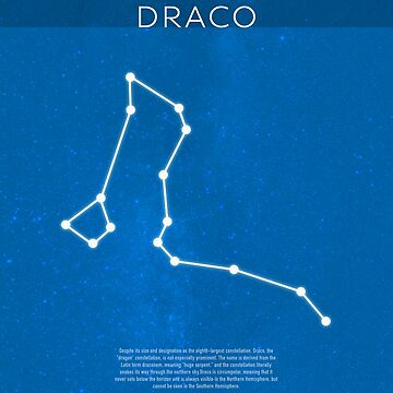 Draco Die Konstellationen Minimalist Serie 05 von scienceispun