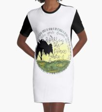 Deep in the Meadow Graphic T-Shirt Dress