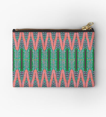 CHRYSLER BUILDING - Neon Pink & Green Studio Pouch