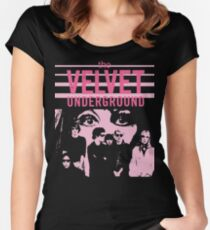The Velvet Underground Nico 70s Distressed shirt Lou Reed Women's Fitted Scoop T-Shirt