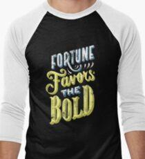 Fortune Favors the Bold Brave Typography Men's Baseball ¾ T-Shirt