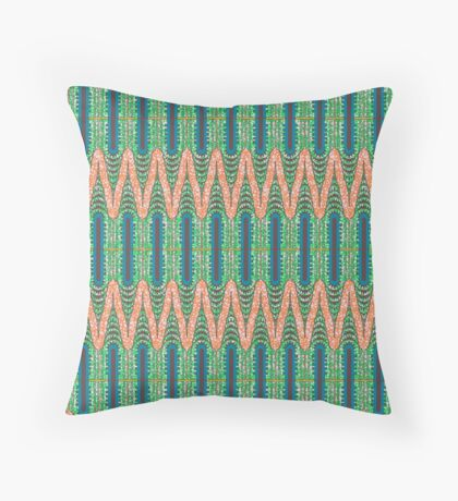 CHRYSLER BUILDING - Orange & Green Throw Pillow
