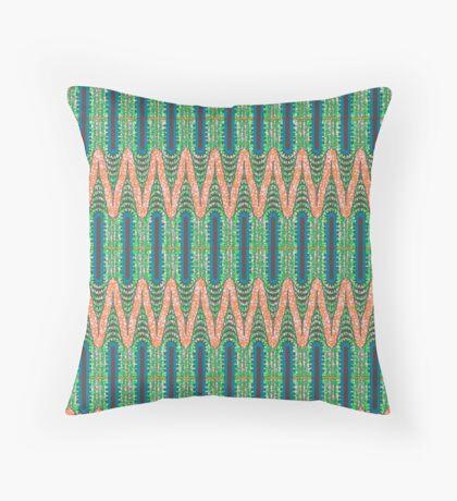 CHRYSLER BUILDING - Orange & Green Floor Pillow