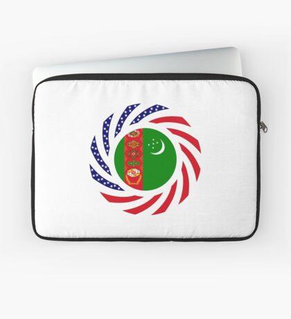 Turkmen American Multinational Patriot Flag Series Laptop Sleeve