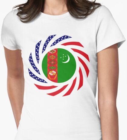 Turkmen American Multinational Patriot Flag Series T-Shirt