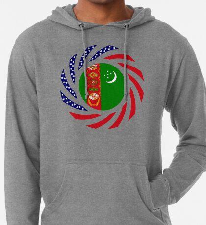 Turkmen American Multinational Patriot Flag Series Lightweight Hoodie