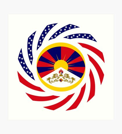 Tibetan American Multinational Patriot Flag Series Art Print