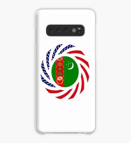 Turkmen American Multinational Patriot Flag Series Case/Skin for Samsung Galaxy