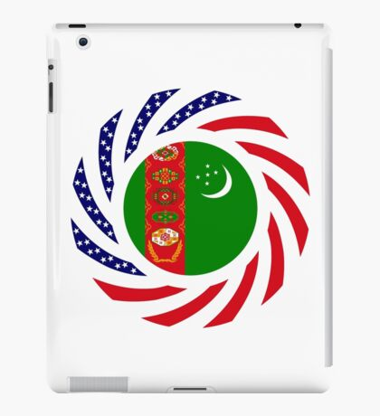 Turkmen American Multinational Patriot Flag Series iPad Case/Skin