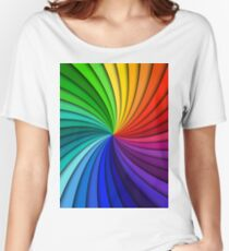 Multi Color Abstract Polygon  Abstract Surreal  T-Shirt Women's Relaxed Fit T-Shirt