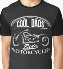 Cool Dads Ride motorcycles Biker Fathers Day (2) Graphic T-Shirt