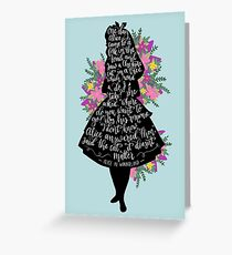 Alice in Wonderland Quote Silloette  Greeting Card