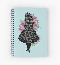 Alice in Wonderland Quote Silloette  Spiral Notebook