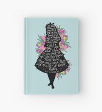 Alice in Wonderland Quote Silloette  Hardcover Journal