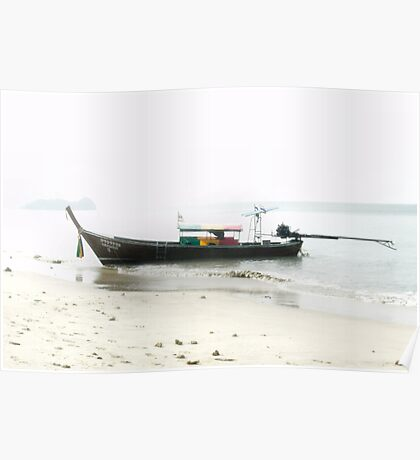 Long Tailed Boat Poster