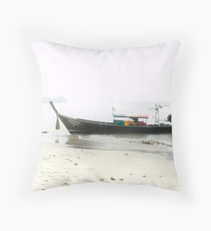 Long Tailed Boat Throw Pillow