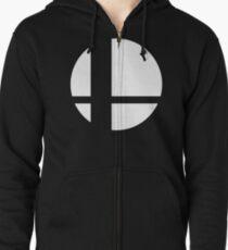 Super Smash Bros Logo Zipped Hoodie