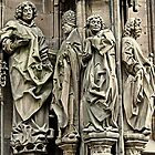 Figures from the facade of Strasbourg Cathedral France by Elzbieta Fazel