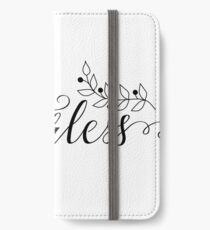 Be fearless. Feminism slogan. iPhone Wallet/Case/Skin
