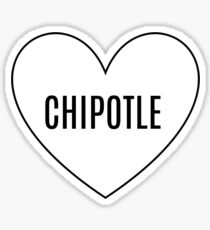 I Heart Chipotle Sticker
