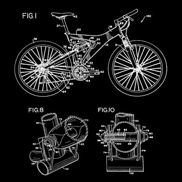 Mountain Bike Patent Inventors White by Vesaints