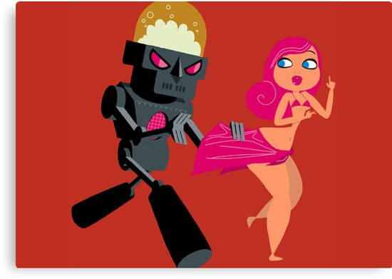 Menina and robot by Marco Recuero