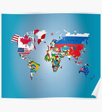 World flags posters redbubble traveler world map flags poster gumiabroncs Choice Image