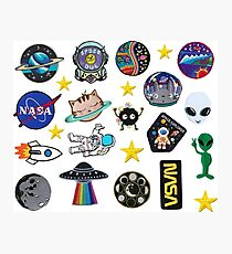 Space Exploration Alien Outer Space Galaxy Patch Inspired Pack Photographic Print