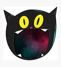 Black Cat Galaxy Photographic Print