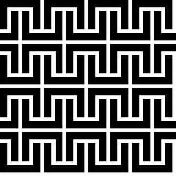 Black Lines Pattern by pacomax