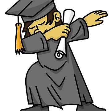 Asian boy student dab dabbing graduation school by LaundryFactory