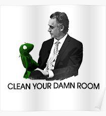 Póster Jordan Peterson: limpia tu maldita habitación