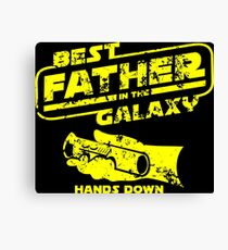 Best Father In the Galaxy Canvas Print