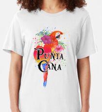 Punta Cana Dominikanische Republik Souvenir Tropischer Macaw Slim Fit T-Shirt