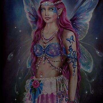 Pink hair shabby chic bohemian fairy faerie fantasy by gabo2828