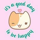 «Lala the cute cat - Es un buen día para ser feliz» de komorebistars