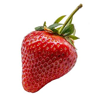 Single isolated fresh strawberry  by Russell102
