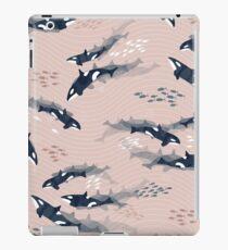 Orca in Motion / blush ocean pattern iPad Case/Skin