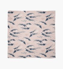 Orca in Motion / blush ocean pattern Scarf