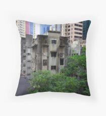 Old buildings, Hong Kong. Throw Pillow