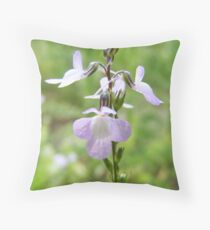 Blue Toadflax Throw Pillow