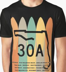 30A Surfboards Towns of 30A Graphic T-Shirt