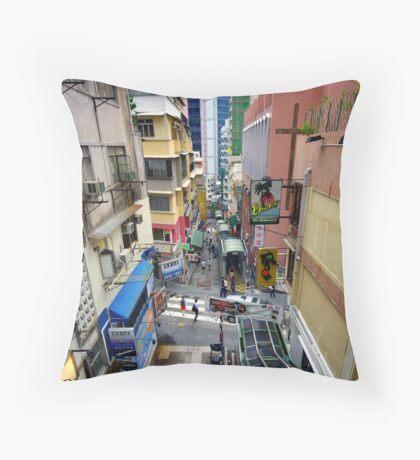 World's longest escalator, Hong Kong. Throw Pillow