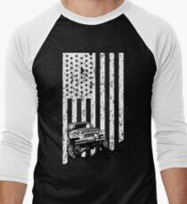 jeep american flag T-shirt, thrill their Jeeps Men's Baseball ¾ T-Shirt