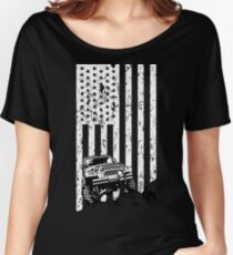 jeep american flag T-shirt, thrill their Jeeps Women's Relaxed Fit T-Shirt