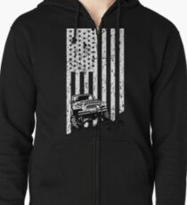 jeep american flag T-shirt, thrill their Jeeps Zipped Hoodie