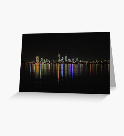 Perth - The City Of Lights  Greeting Card